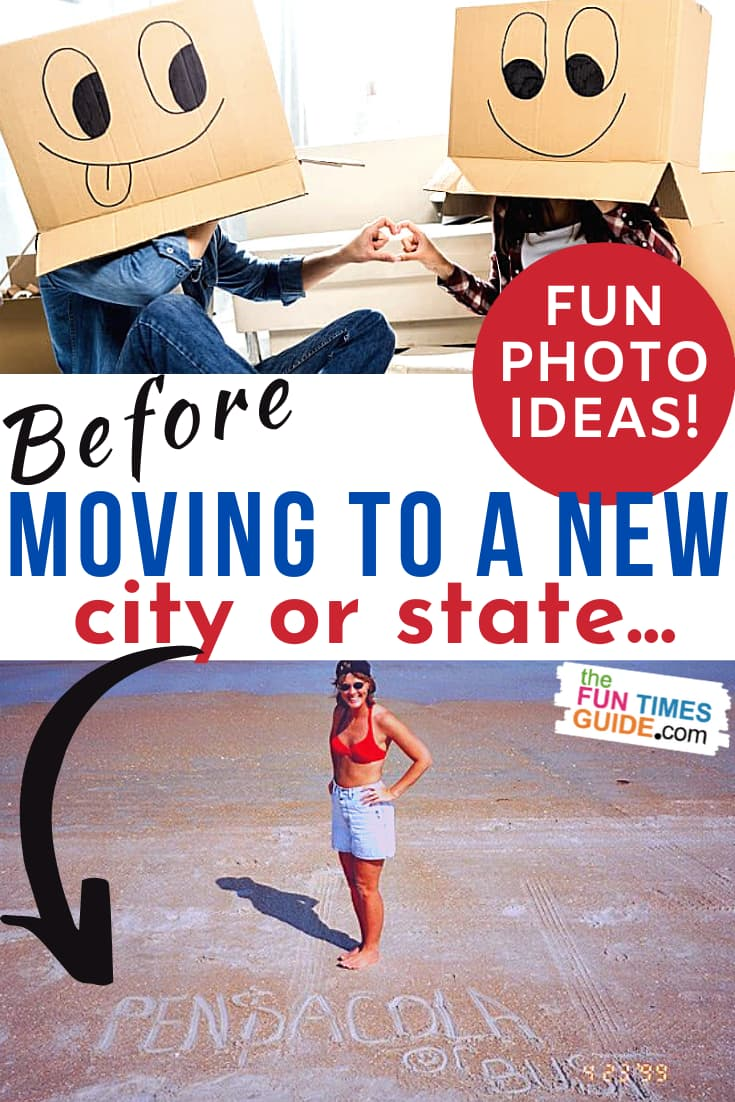 A Fun Photo Tradition: See How We Take Unique Local Photos Prior To Moving To A New Area!