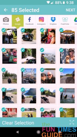 A screenshot of the Free Prints app - you get 85 free photo prints each month