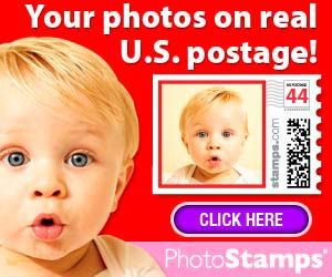 Order your personal photo postage stamps online today.
