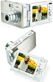 Kodak EasyShare-one digital camera with rotating touch screen.