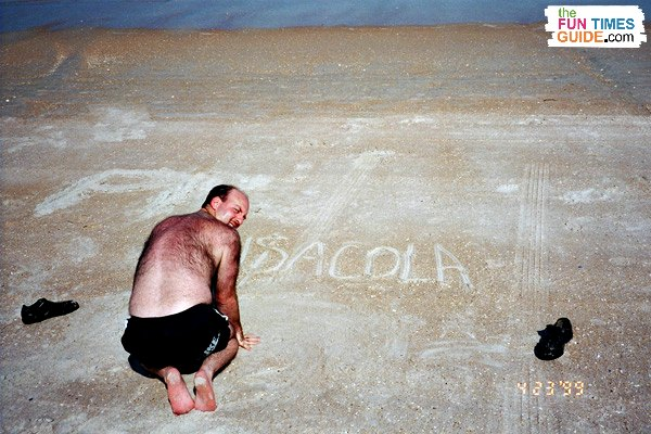 We decided we'd draw our dreams in the sand.